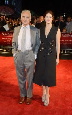 Sir Terrence Stamp and Gemma Arterton on the LFF Song For Marion Red carpet