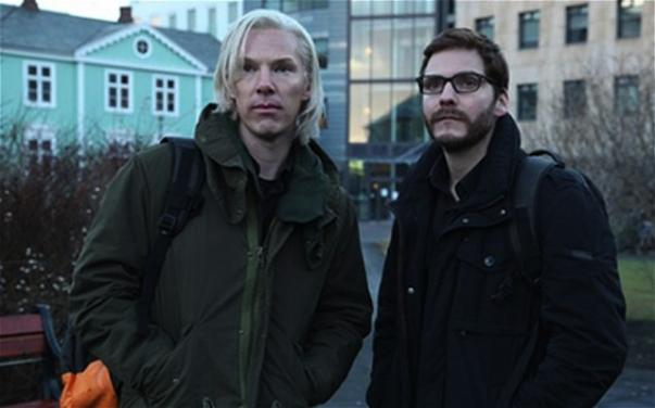 Benedict Cumberbatch as WikiLeaks founder Julian Assange and Daniel Brühl as Daniel Domscheit-Berg