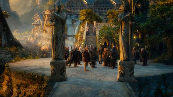 (L-r) PETER HAMBLETON as Gloin, DEAN GORMAN as Fili, JOHN CALLEN as Oin, KEN STOTT as Balin, MARTIN FREEMAN as Bilbo Baggins, JAMES NESBITT as Bofur, AIDAN TURNER as Kili, STEPHEN HUNTER as Bombur, WILLIAM KIRCHER as Bifur, JED BROPHY as Nori and MARK HADLOW as Dori in the fantasy adventure THE HOBBIT: AN UNEXPECTED JOURNEY