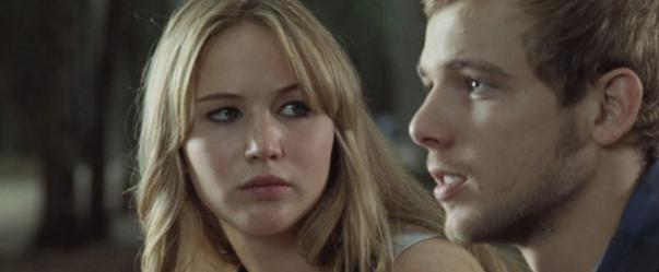 Jennifer Lawrence as Elissa, and Max Thieriot in House At The End of the Street